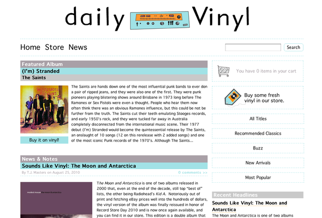 Ecommerce University | Daily Vinyl: Your Local Online Record