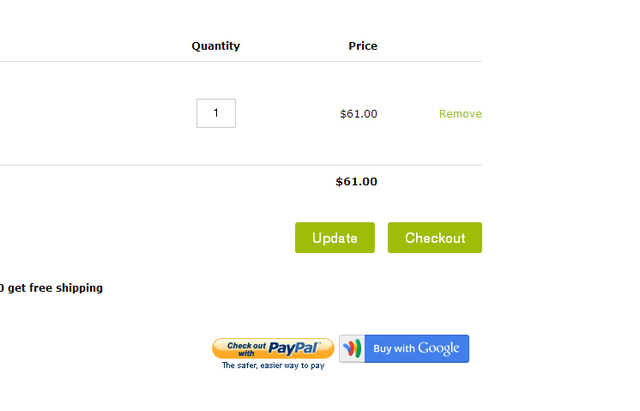 Ecommerce University | Remove Google Wallet / Paypal from
