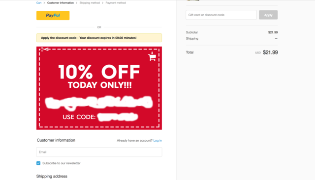 how to add coupon to shopify