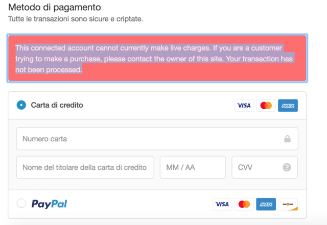 Ecommerce University | Customer Unable to pay with stripe - Payments