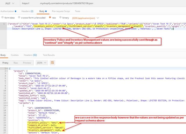 Ecommerce University | Product API - updating of &quot