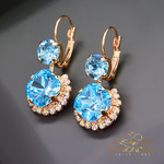 Swarovski earrings aquamarine blue 3 thumb